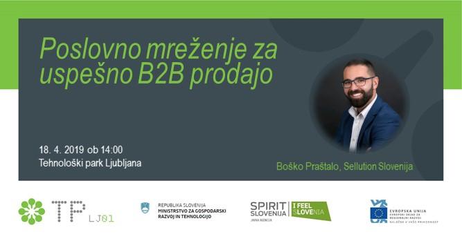 Poslovno mreženje za uspešno B2B prodajo