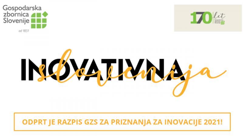 Razpis za inovacije GZS Zbornice Osrednjeslovenske regije 2021