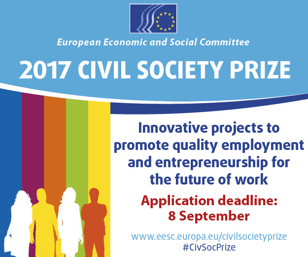 EESC civil society prize: Innovative projects to promote quality employment and entrepreneurship for the future of work