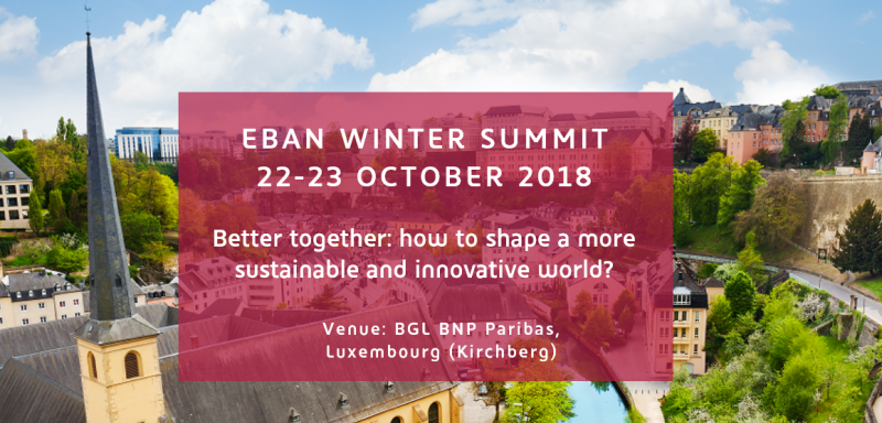 Start-upi vabljeni na EBAN Winter Summit: 22. – 23. oktober 2018, Luksemburg