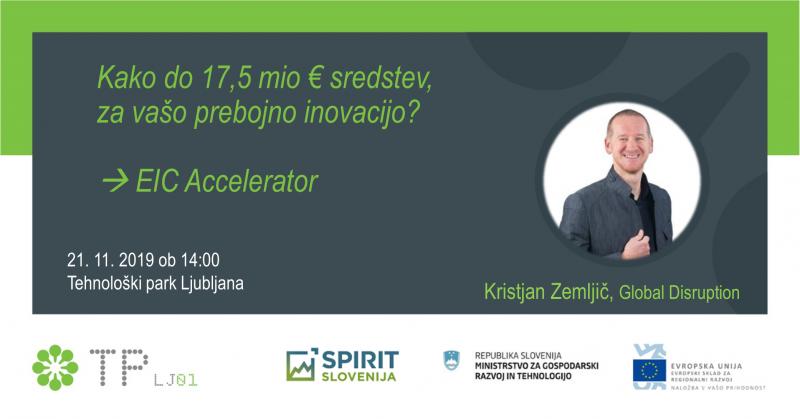 EIC Accelerator: Kako do 17,5 mio € sredstev za vašo prebojno inovacijo?