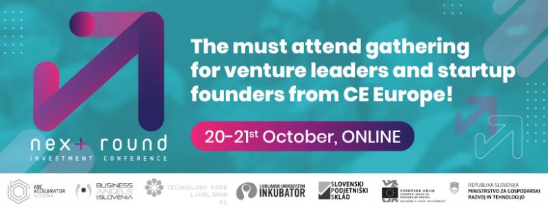 ONLINE Next Round Investicijska konferenca 20. & 21. oktober 2020