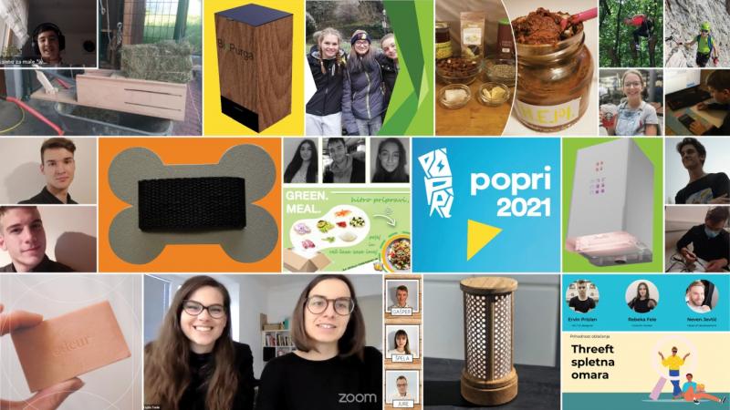 Tekmovanje POPRI: Podjetniške ideje mladih tudi letos navdušile