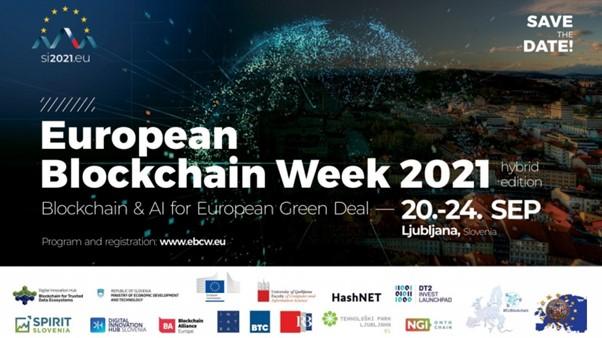 Evropski blockchain teden: tehnologiji veriženja blokov in umetna inteligenca za evropski zeleni dogovor
