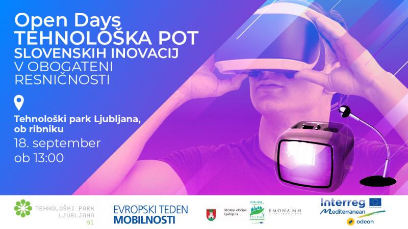 Open Days: Tehnološka pot slovenskih inovacij v obogateni resničnosti