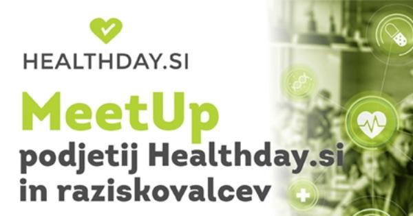 MeetUp podjetij HealthDay.si in raziskovalcev