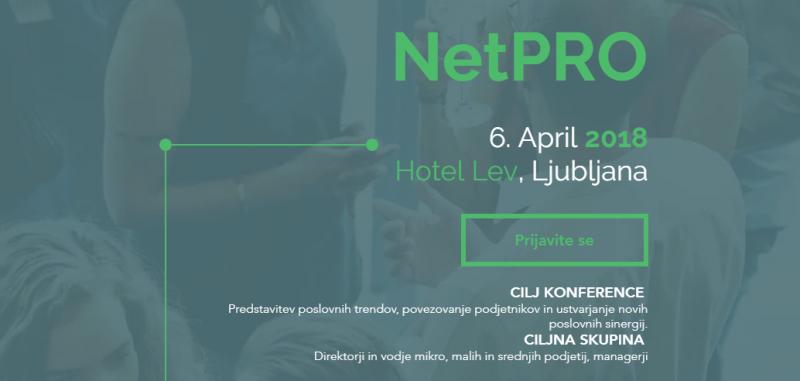 NetPRO - Poslovna in networking konferenca za mikro, mala in srednja podjetja v Sloveniji