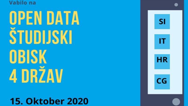 Open data študijski obisk 4 držav
