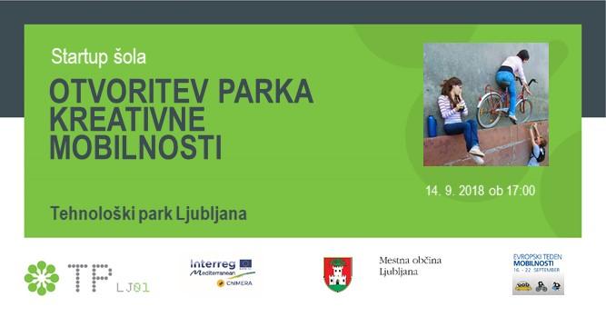 Sporočilo za medije - Ustvarjalni laboratorij s startup šolo v okviru Evropskega tedna mobilnosti