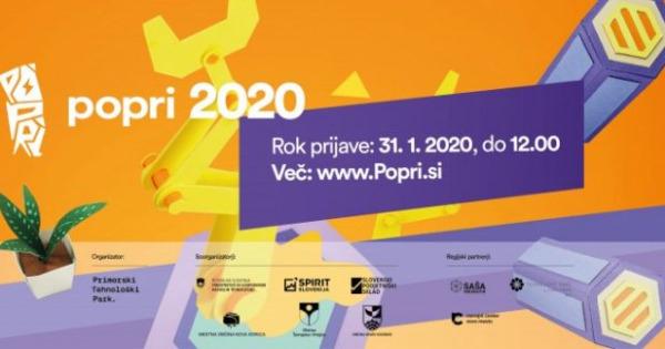 Vabimo vas na vseslovensko tekmovanje POPRI 2020